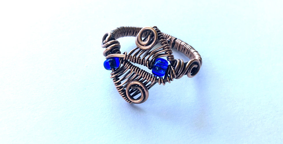 Weaves & Spirals Ring Sz 8