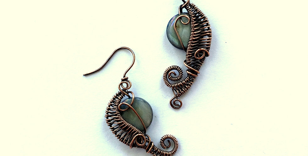 Abalone Beads in Copper Weave