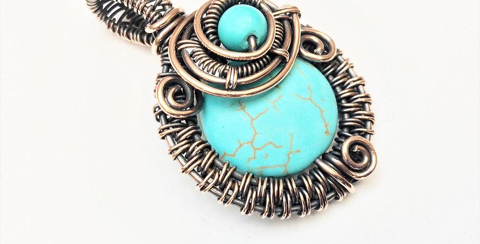 Howlite & Turquoise Round