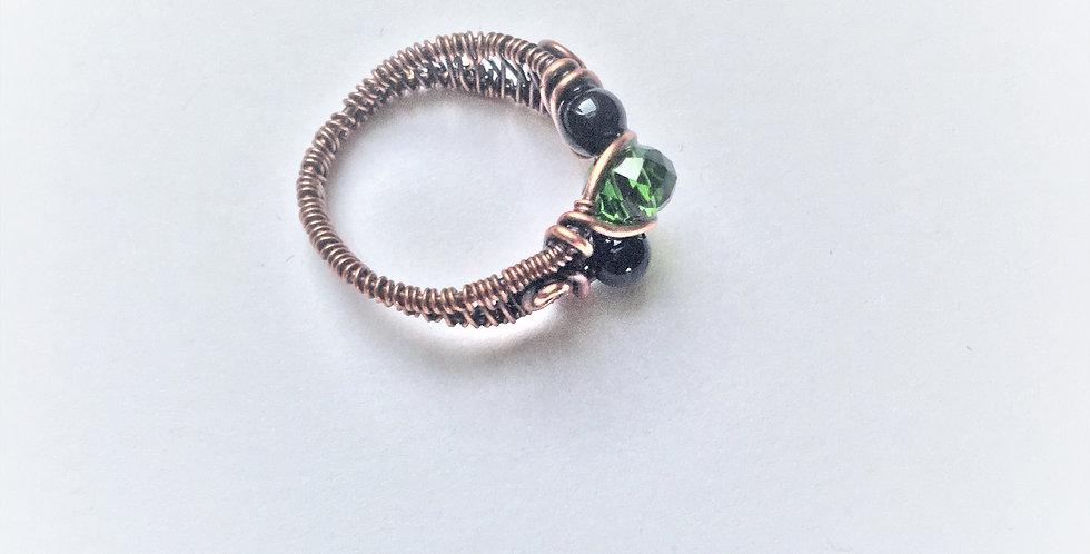 Glass & Black Onyx beads Sz 6
