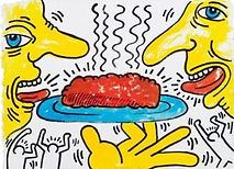 Keith Haring - Meatloaf Drawing for Meal