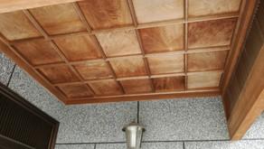 ♢玄関入口 木部塗装