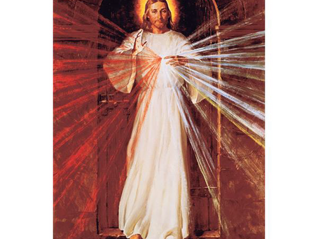 Image of Divine Mercy Coming to Saint Peter