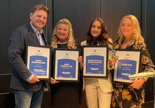 James Parkhouse, Katie Blount, Jadene Cook and Molly Winterton Business Travel People Awards winners