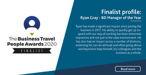 Business Travel People Awards 2020: Ryan Gray - Business Development Manager of the Year