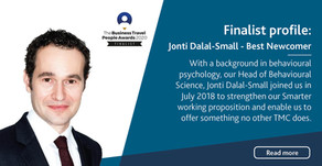 Meet Jonti Dalal-Small, Business Travel People Awards 2020 Finalist for Best Newcomer