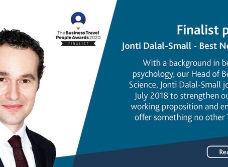 Meet Jonti Dalal-Small, Business Travel People Awards 2020 Finalist for Best Newcomer