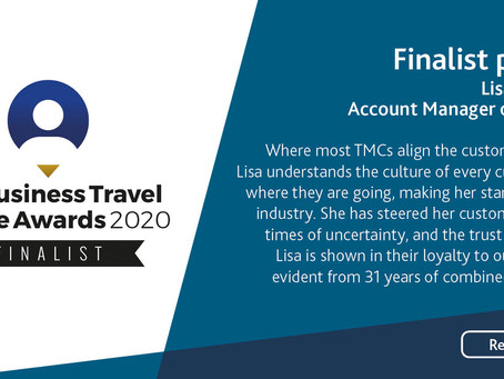Meet Lisa Hyman - Business Travel People Awards 2020 Finalist for Account Manager of the Year