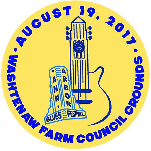 Ann Arbor Blues Festival Sticker (strip of 3)