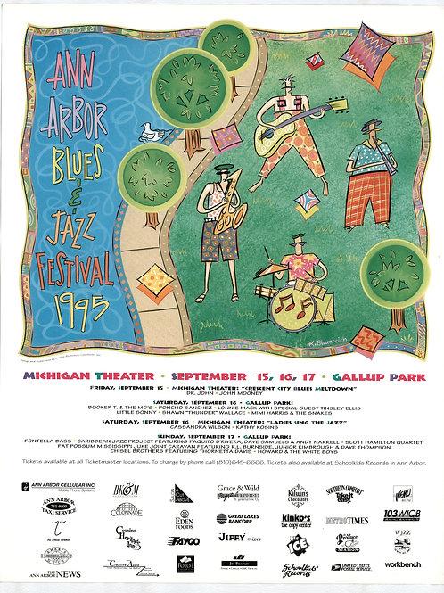 Ann Arbor Blues & Jazz Festival Concert Poster (1995) - Original
