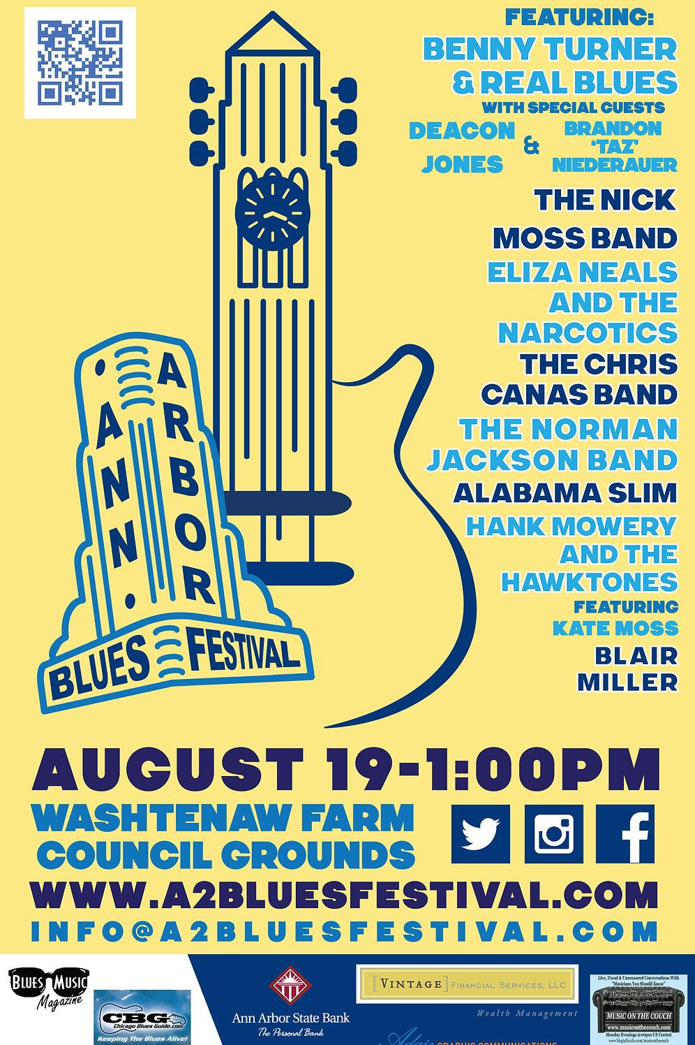 Ann Arbor Blues Festival Concert Poster (2017) - Original