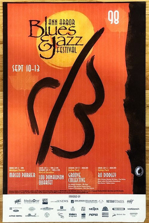 Ann Arbor Blues & Jazz Festival Concert Poster (1998) Original