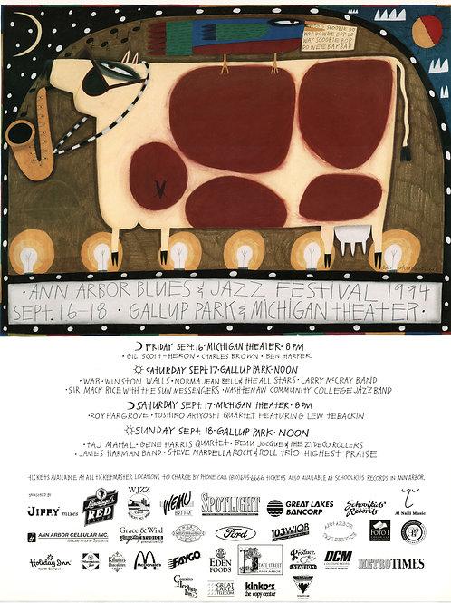 Ann Arbor Blues & Jazz Festival Concert Poster (1994) - Original