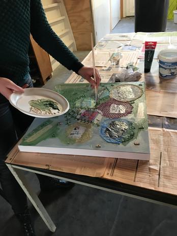 Workshop schilderen met collega's