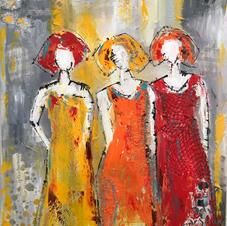 Drie vrouwen   €75,-