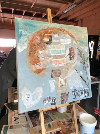 Workshop schilderen met collega's.