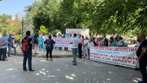 ΕΙΝΚΥΛ: Κινητοποίηση στο Γενικό Νοσοκομείο Λάρισας κατά του υποχρεωτικού εμβολιασμού
