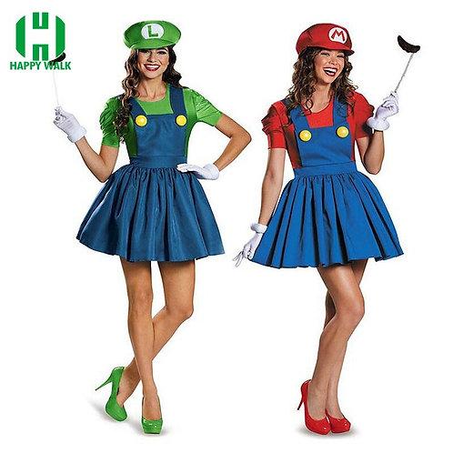 Halloween Super Mario Luigi Bros Costume