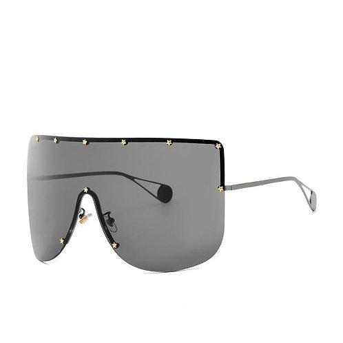 Elaiza Oversized Sunglasses - Gun Gray