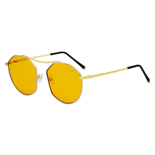 Women Round Tinted Flat Lens Spectacles Opticals Sunglasses Circle