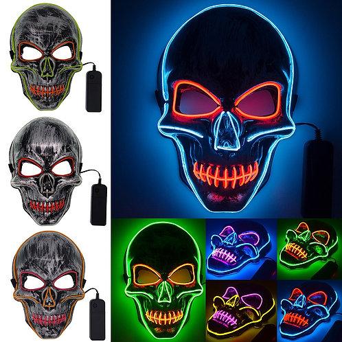 Halloween Skull LED Mask