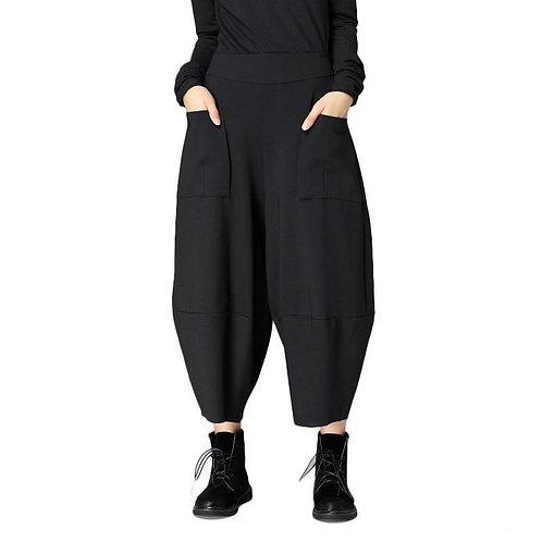 Milly Front Pocket Crop Pants - Black