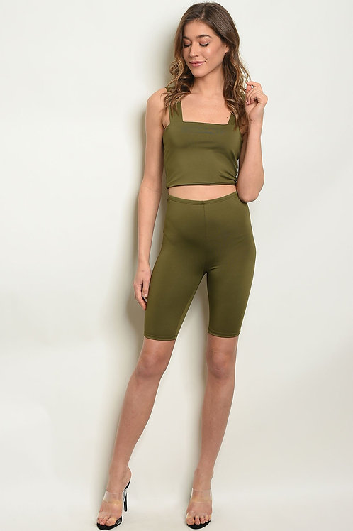 Fitted Crop Top & Short Set