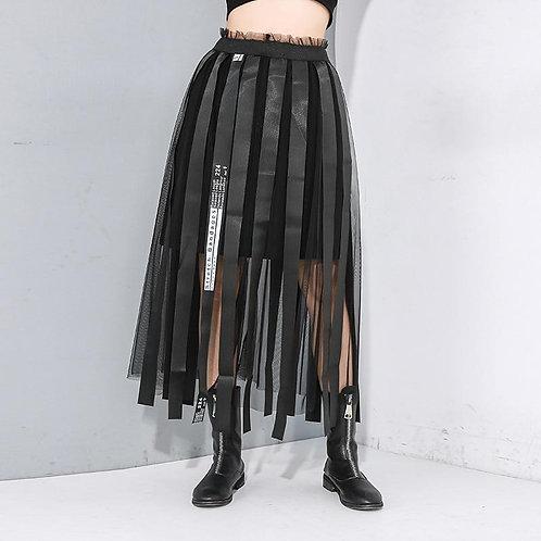Etsu Mesh Empire Split Skirt