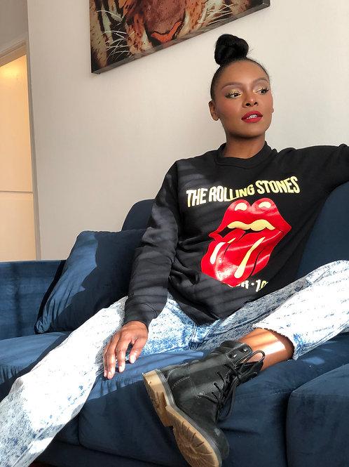 Iconic Unisex Rolling Stones Long Sleeve Sweater Shirt