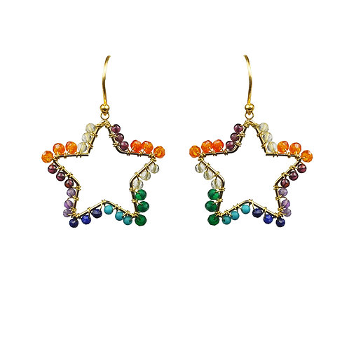 Chakra Star Vermeil Earrings