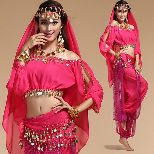 Indian Belly Dance Costumes Set
