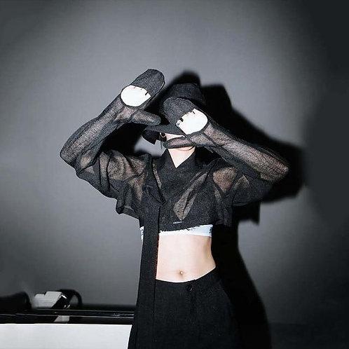 Chiharu Long Sleeve Glove Shirt - Black