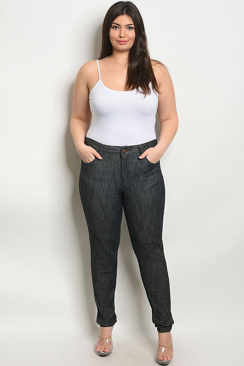 Black Denim Plus Size Pants
