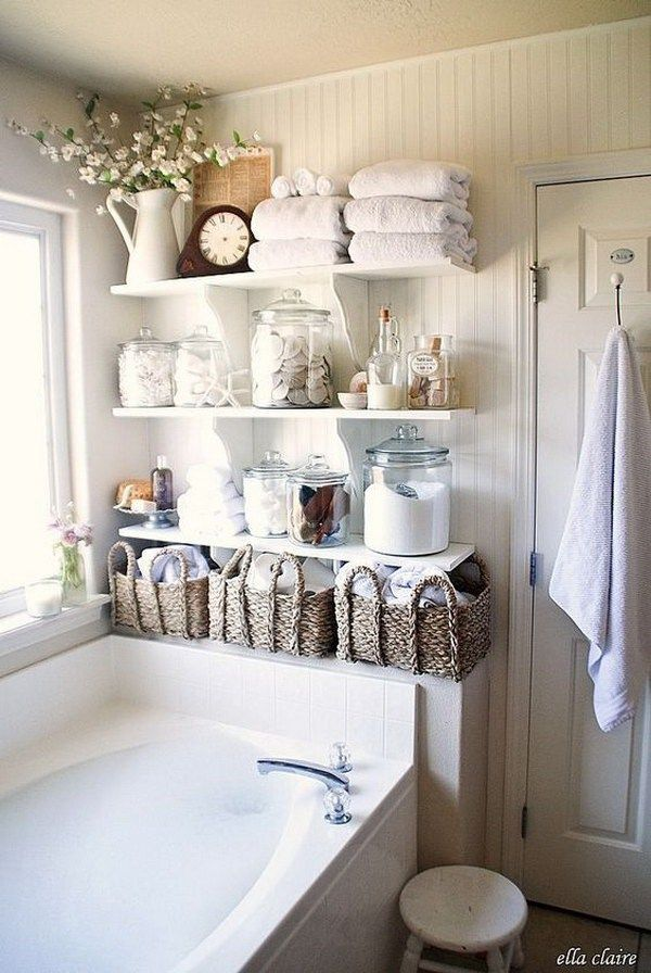 Bathroom: Shelf Organization