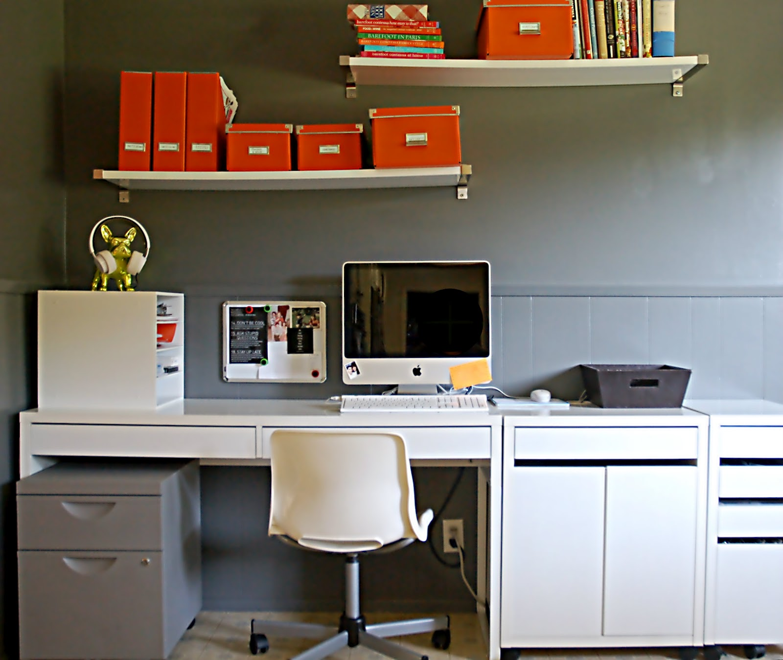Office:  Desk & Shelf Organization