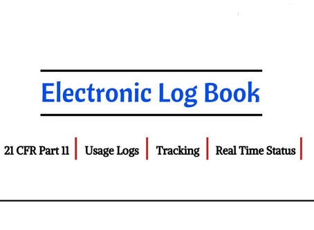 Electronic Log book (eLogs) in the Pharmaceutical Industry