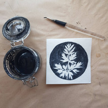 Organic ink painting process