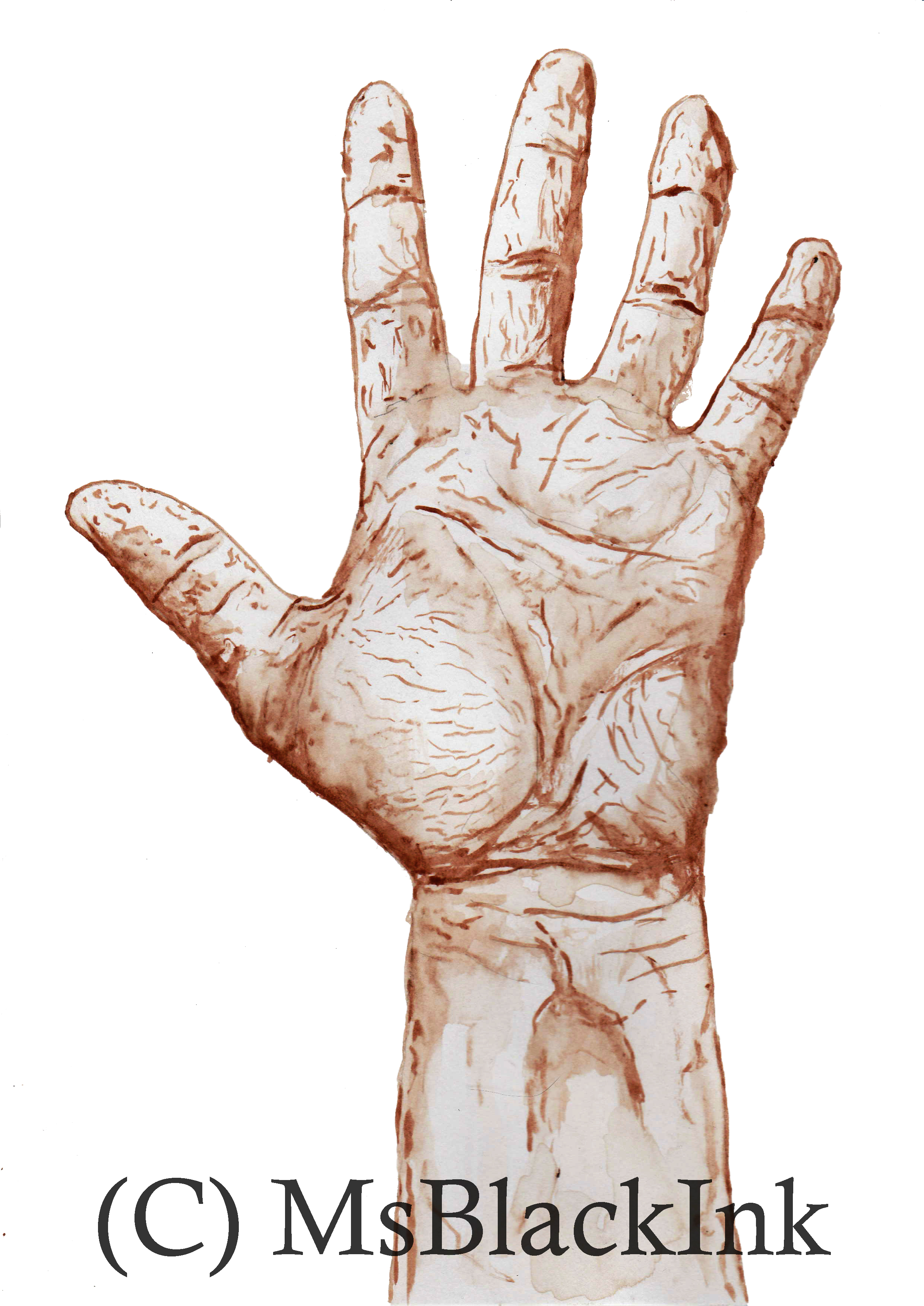 Blood Hand Illustration