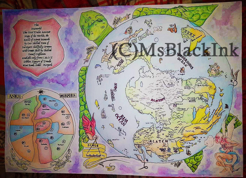 Terry Pratchett Discworld Map