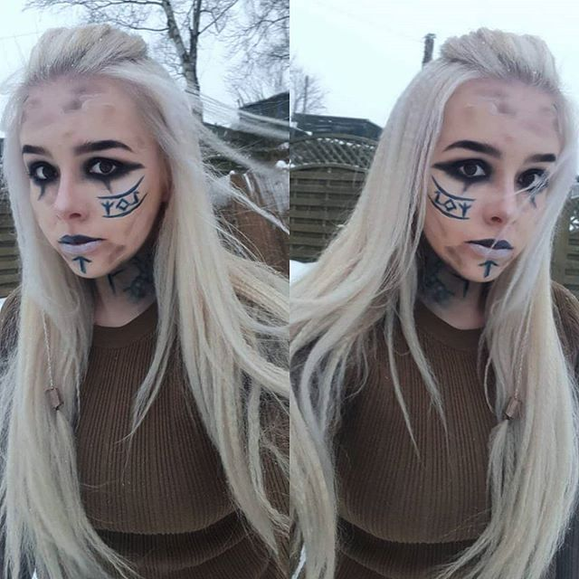 Viking inspired makeup