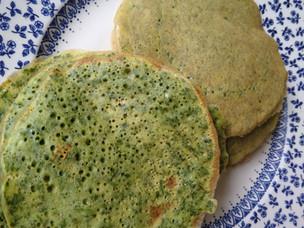 Grüne Pfannkuchen / Crêpes vertes