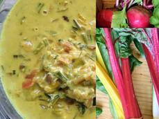 Krautstriel Curry / Curry de bettes et tiges de betteraves