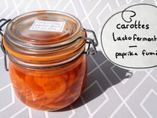 Carottes lactofermentées au paprika fumé et à l'origan