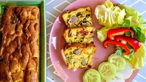 Cake salé et coloré aux côtes de bettes / Bunter Krautstiel- oder Mangoldkuchen