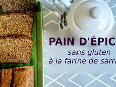 Pain d'épices au sarrasin, (sans gluten, option vegan)