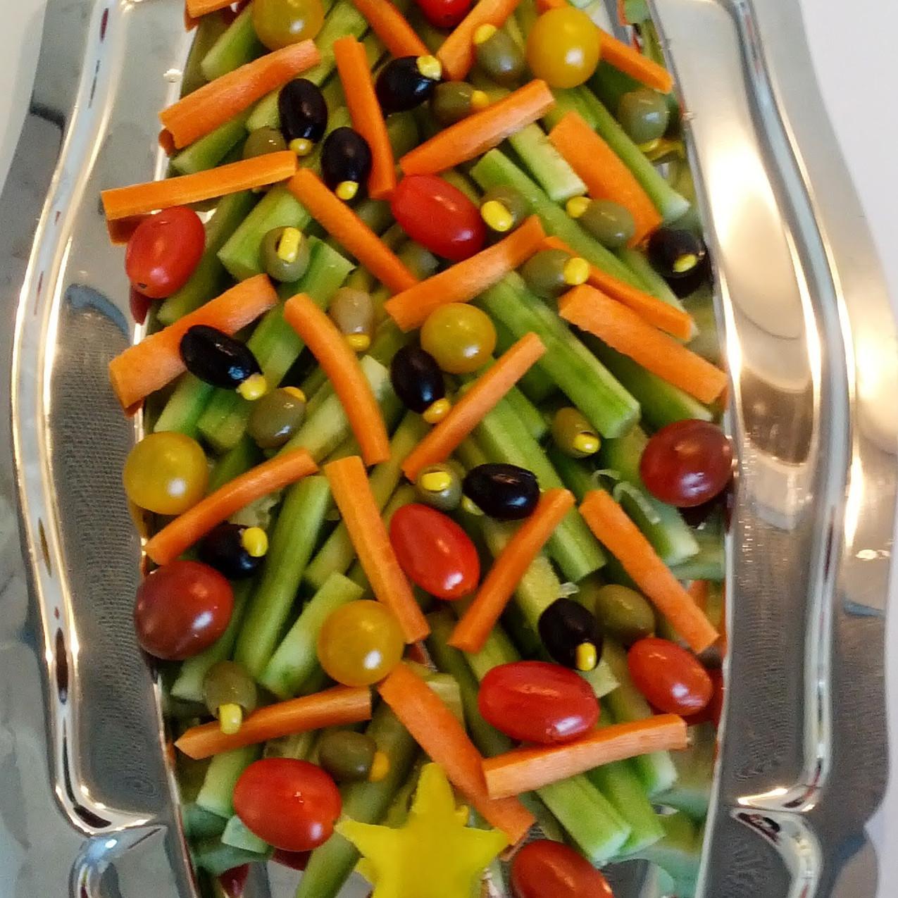 Plateau de légumes - le sapin de No