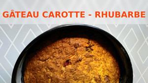 Gâteau printanier, carotte et rhubarbe