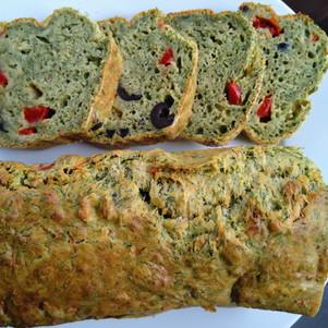 Salziger Gemüsegrün Kuchen / Cake salé aux fanes