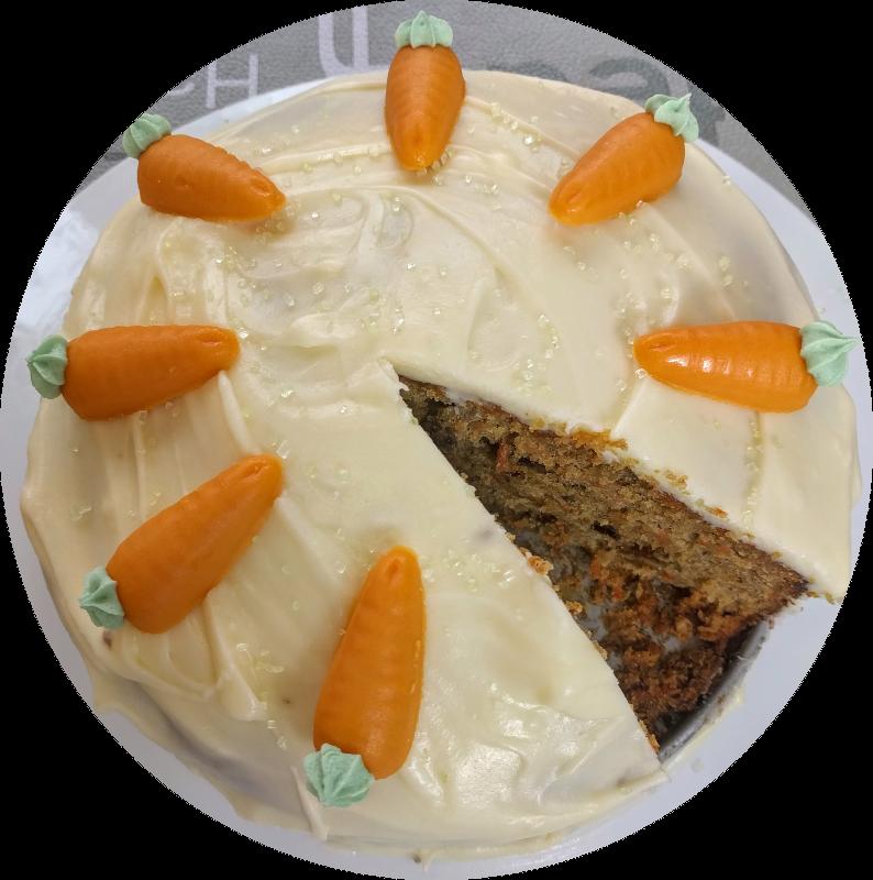 gateau carotte rond