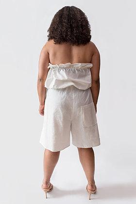 Kingsley Longline Shorts White